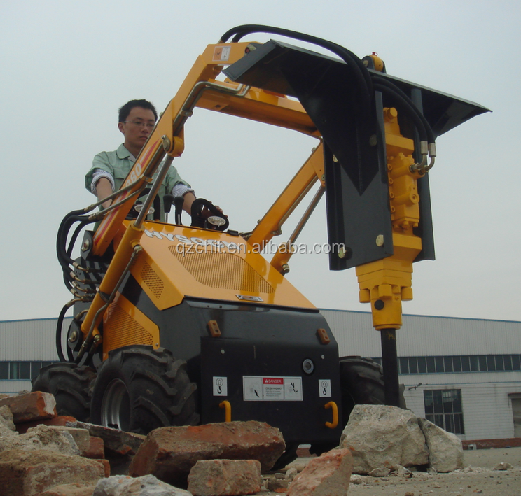 CHINA HYSOON HY380 MINI BACKHOE LOADER WITH ACCESSORIES
