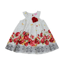Wholesale Summer Kids Little Girls Floral 100% Cotton Dress Girls Frock