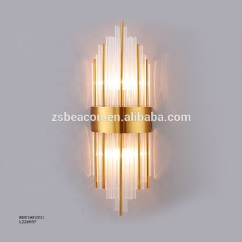 Factory Price top grade customization hotel villa indoor decorative crystal wall lamp lighting CE VDE cUL