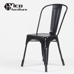 Best price wholesale modern industrial style stackable vintage dining cafe restaurant cafeteria bistro iron metal chair