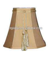 antique brass lamp shade with flower webbing