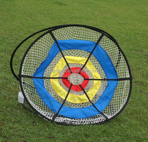 Pop up cricket shot target golf chipping net for training