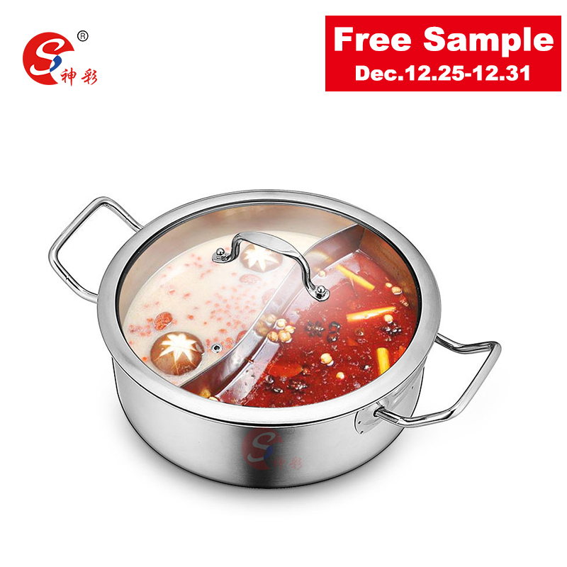 chaoan caiting stainless steel soup stock pot soup&stock pot divided hot pot