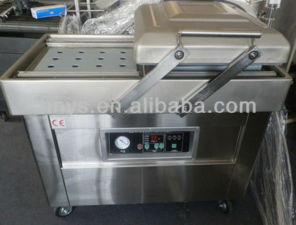Chinese supplier cooked food and fruit slices vacuum packing machine with two chamber