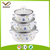Carbon steel enamel cookware with glass lid white mini reoona casserole