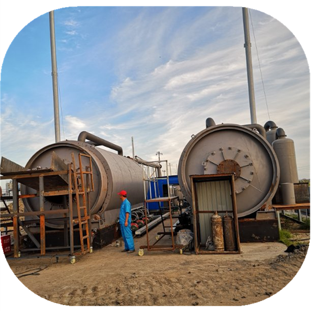 Waste tyre rubber recycling waste processing plant to fuel oil