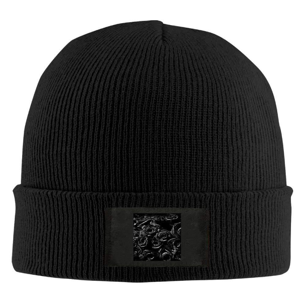 ff7dea0f562 Get Quotations · Mortimer Black Rose Wool Watch Cap Knit Hat Beanie Cap