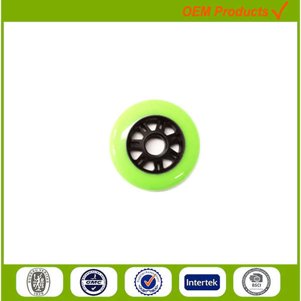 90mm solid pu plastic wheel high hardness luggage parts