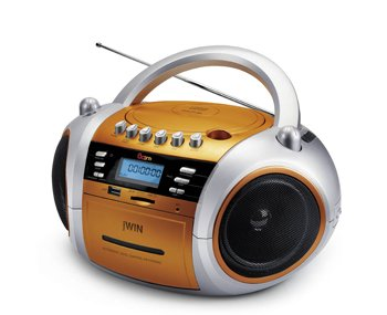 JWIN JX-CD573ORG Portable MP3 CD / CD Player with Cassette and USB / SD / MMC Slot