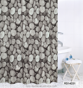 Photo Digital Printing Pebble Shower Curtain