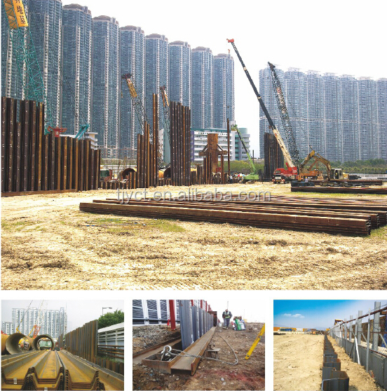 Sy295 Sy390 Hot Rolled U Type Z Type Steel Sheet Pile Price