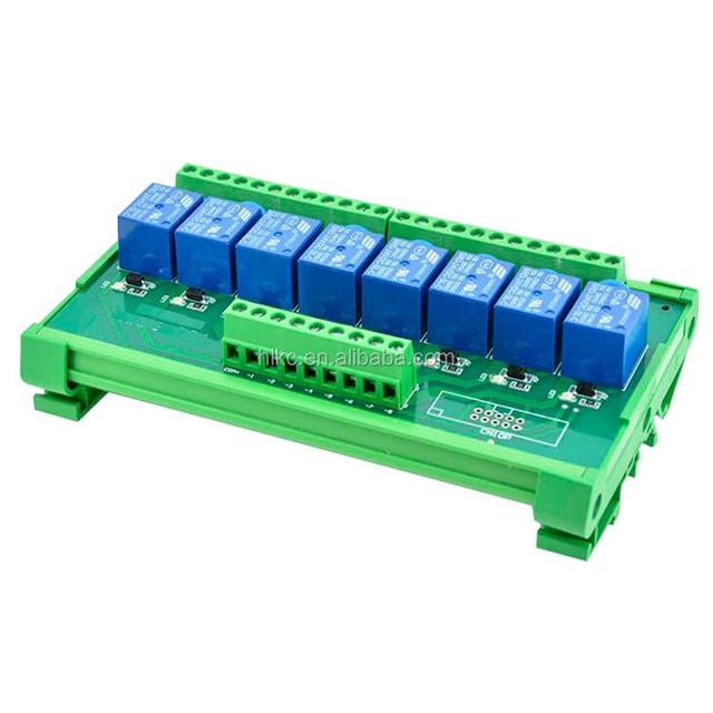 24V de Panneau de Module de Relais Doptocoupleur de Canal de 5,6 /× 2 /× 0,7 Pouces 8 Canaux Pour le Choix 12V D/éclencheur 5V 12V