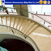 Giallo atlantide beige marble staricase anti slip step with various stairs designs