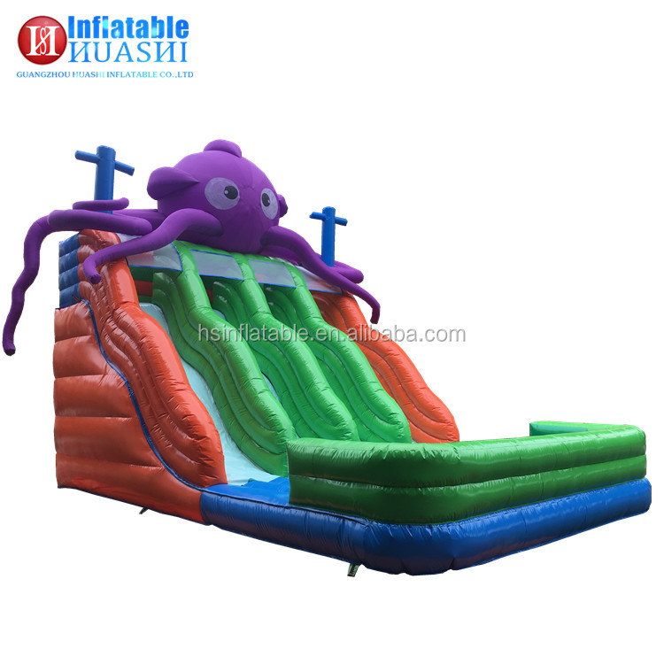 2017 Hot sale high quality PVC Octopus animal theme commercial kids toys giant cheap imported inflatable slide
