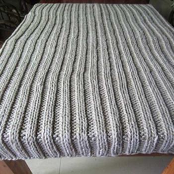 50da78 Metallic Yarn Chunky Knit Blanket Acrylic Oversized Strip