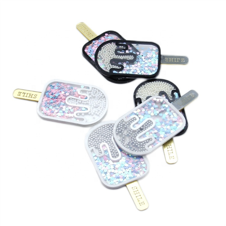 Diy Craft Ice Cream Milk Flatback Planar Acrylic <strong>Resin</strong> With Beads Sequin 6871