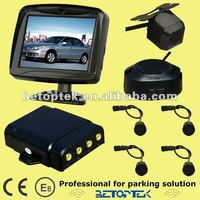 Built-in 3.5 inch TFT monitor vehicle rearview car reverse parking sensor system