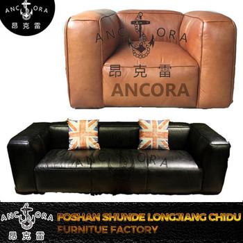 Vintage Black Tomcat Genuine Leather Industrial Sofa Set A168   Buy Vintage  Tomcat Sofa,Black Industrial Sofa Set,Leather Sofa Set Product On ...