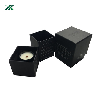 Professional factory direct printed custom  cardboard black candle gift box