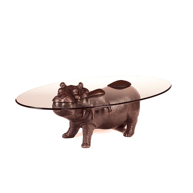 Cuisine Tables Main Animal Statue Hippopotame De Bronze 9DIEH2beWY
