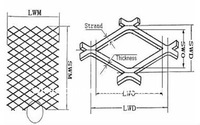 High Quality stainless steel/Aluminum expanded metal wire mesh plate sheet/expanded metal lath for highway fence