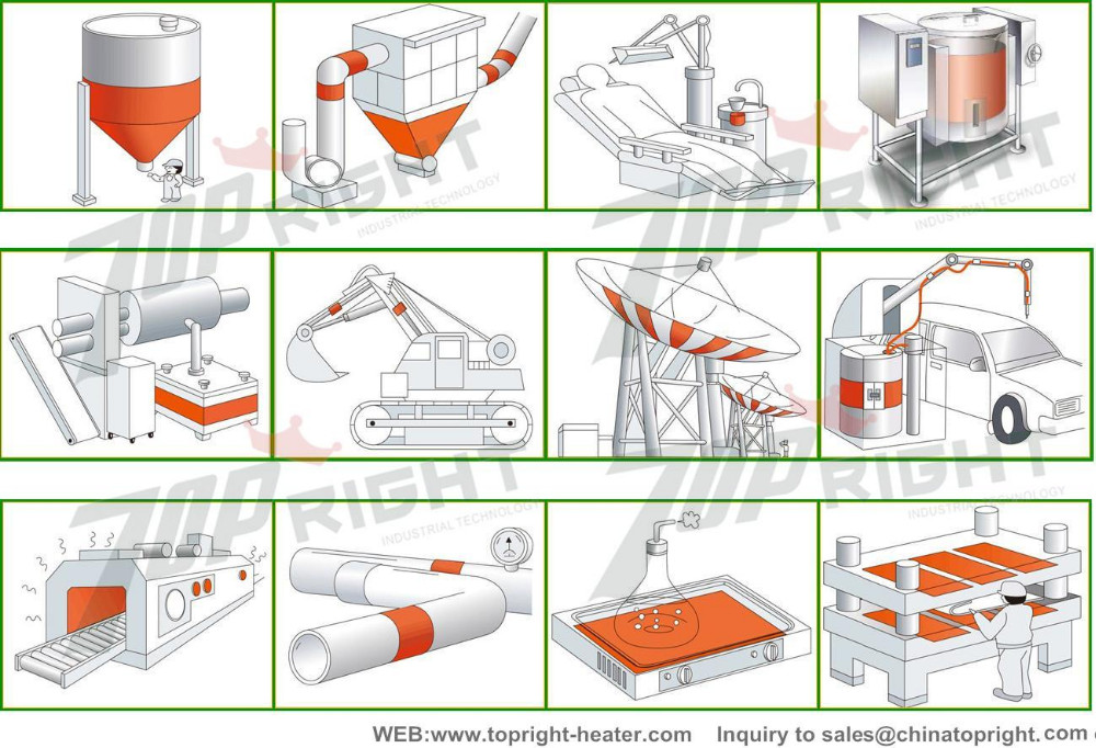 silicone rubber heater applications
