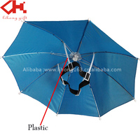 Promotional Light China Factory Hat Custom Print Head Umbrella for sale
