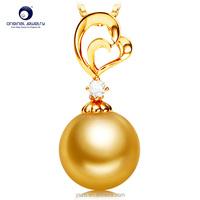 [YS] South sea/tahitian pearl single pearl pendant necklace pearl pendant gold