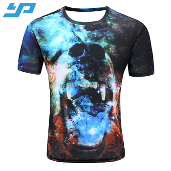 OEM make your own design wholesale 3d digital printed tshirt custom t shirt c51754ba9d28