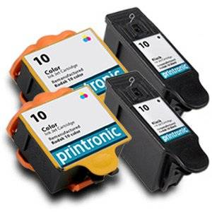 Printronic Compatible Ink Cartridge Replacement for Kodak 10 Black 10 Color (2 Black 2 Color) 4 Pack