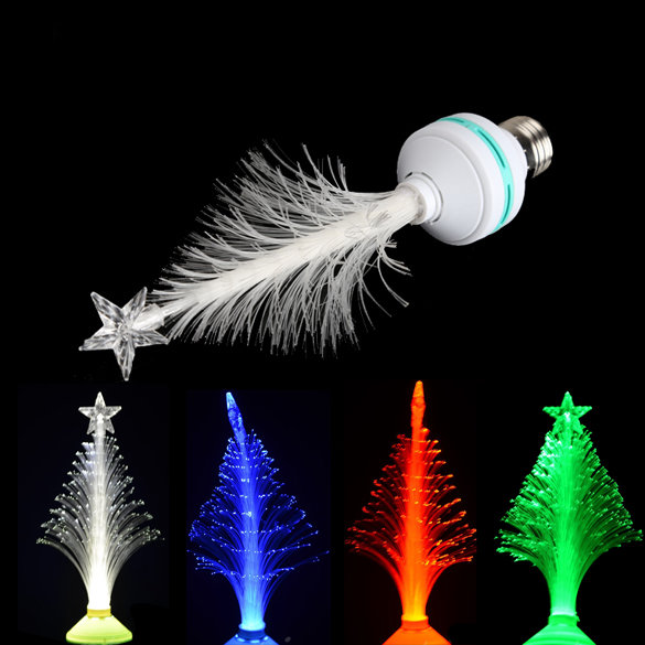 3W Home Decoration Fiber Optical LED Flower Light Christmas Tree Gift Lamp Free Shipping