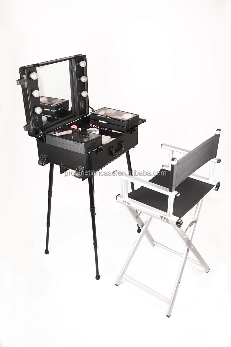 2017 New Color Rosegold Aluminum Finish Cheap Folding Makeup Chair Director Beach