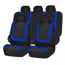 Modieuze <span class=keywords><strong>Auto</strong></span> Stoelhoezen Ontwerp Universal Fit Seat Cover Volledige Set <span class=keywords><strong>Platte</strong></span> Doek Stof <span class=keywords><strong>Auto</strong></span> Stoelhoezen