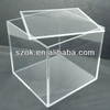 China acrylic clear cube retail display box with lid