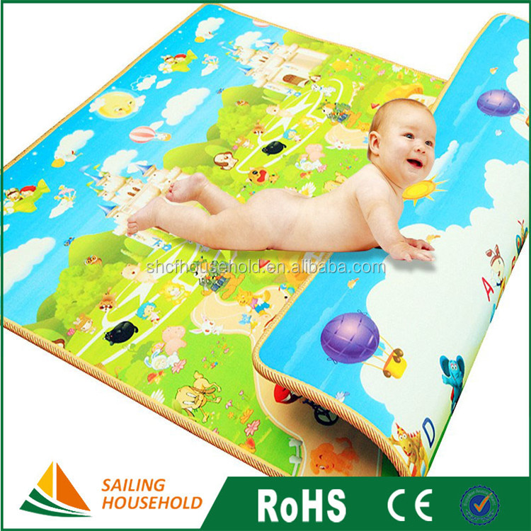 Good quality customized color houble-sided waterproof kids crawling mat foam play baby play mat