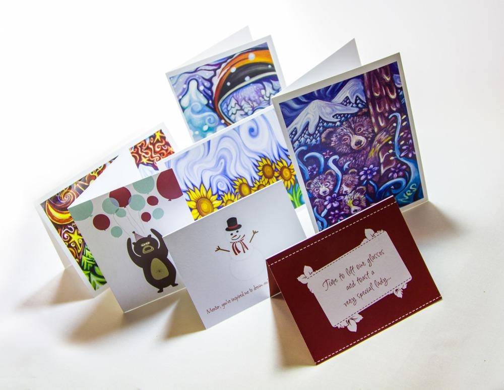 Печать открыток и фото с применением декора и текста, февраля класс