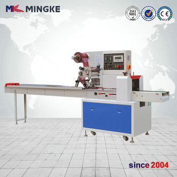 Semi vertical tablet strip/horizontal flow packing machine