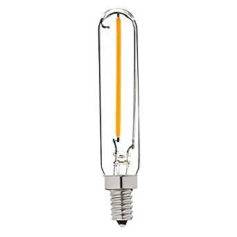 Century Light - T6 1W LED Edison Filament Bulb - 10 Watt Equivalent Candelabra LED Light - Radio Style - E12 Base - Super Warm White 2200K - Dimmable - 2Pack