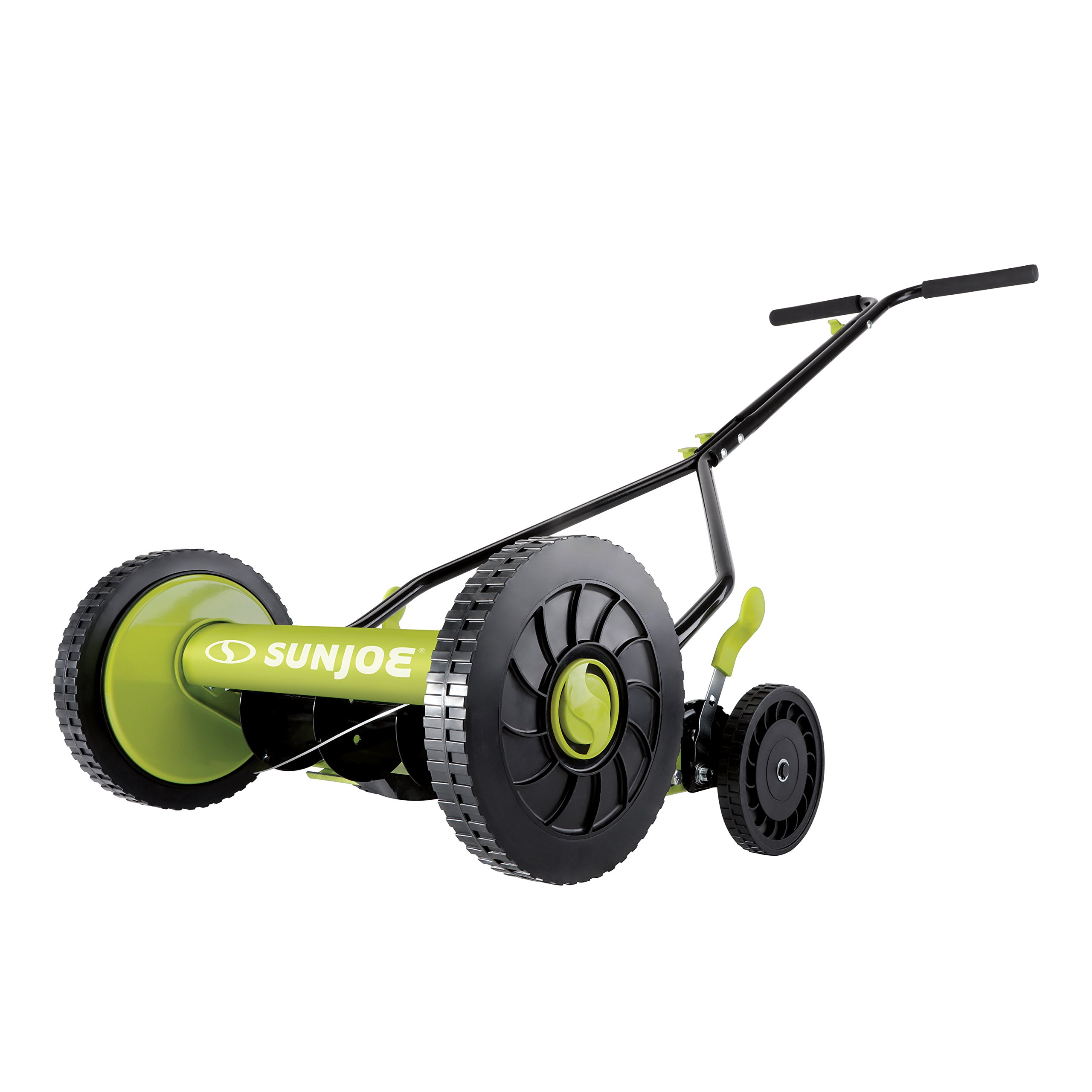 Get Quotations · Sun Joe MJ503M 14-Inch Quad Wheel 9-Position Manual Reel  Mower