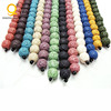 6mm to 16mm multicolor natural real stone lava bead