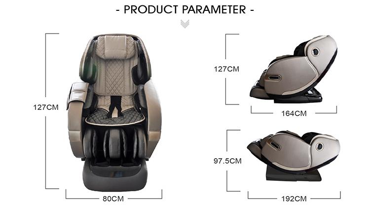 Bằng sáng chế da ghế có thể thu vào massage ghế 4D không trọng lực cho sức khỏe
