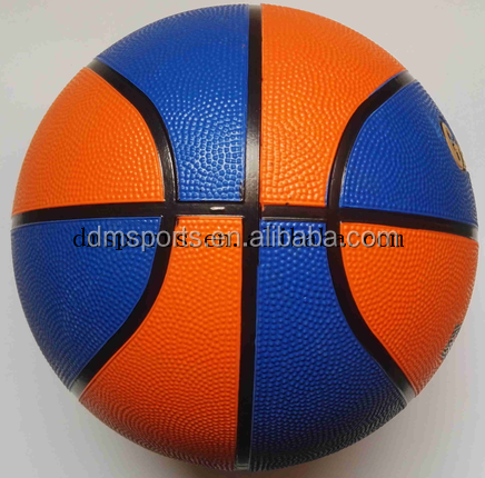 colourful rubber basketball,office size and weight,8 panels