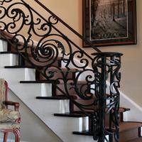 Wrought Iron Stair Railing Panels Decorative