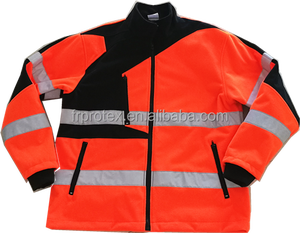 Hi Vis Work Uniform Fleece Zipper Jacket Protective Clothing