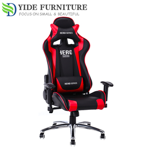 Red commercial leather computer office racing chair car for office