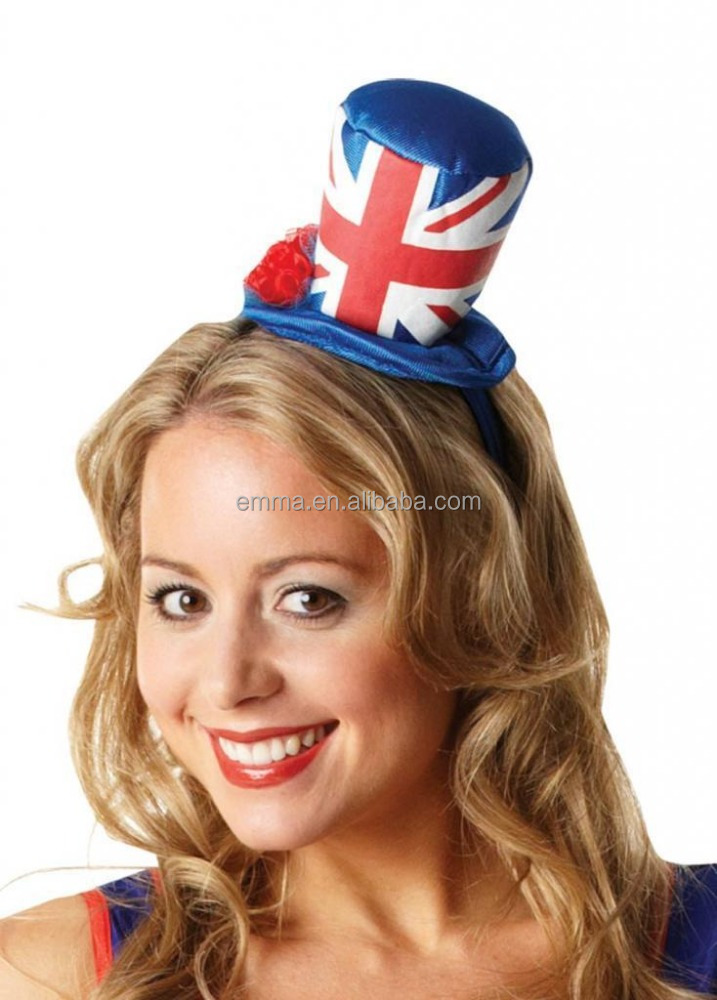Mini small fashion hats English flag lovely party hat HT17464