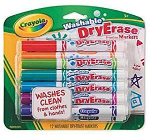 buy crayola washable dry erase markers set of 6 2 pieces