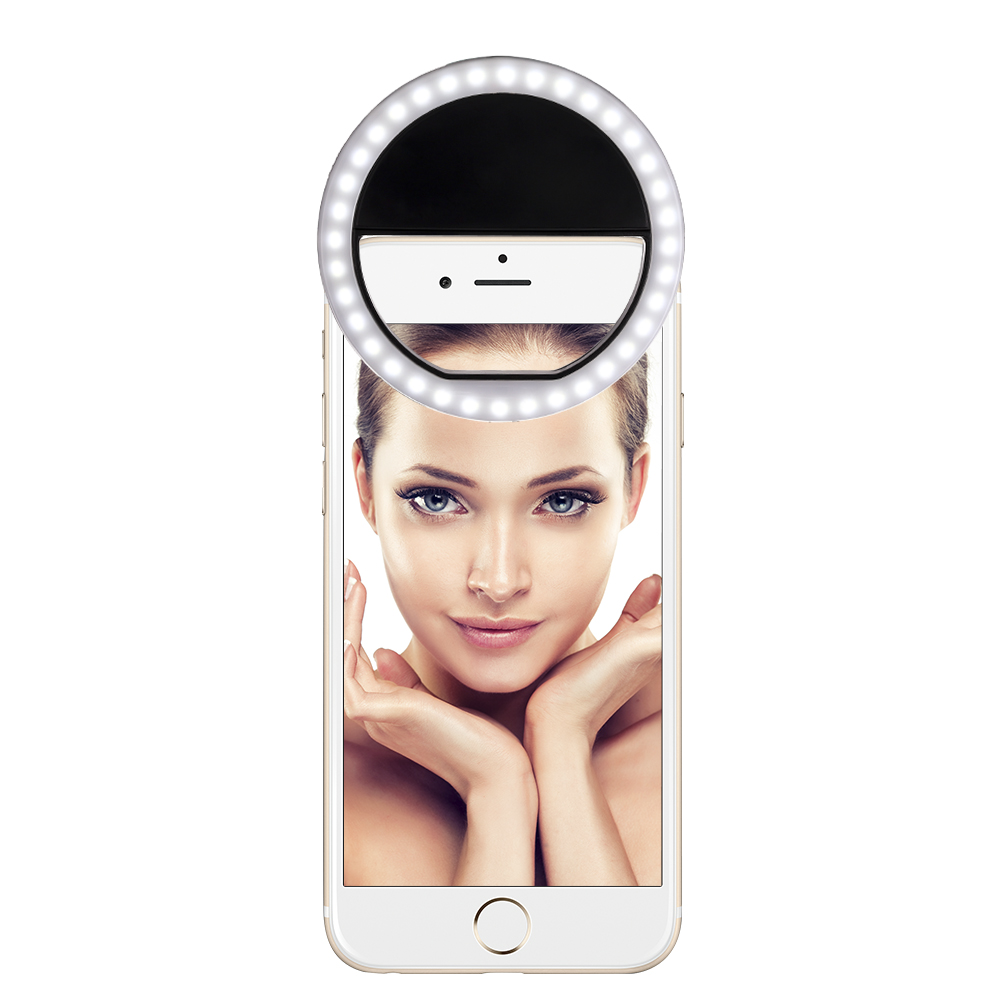 Rechargeable Camera Selfie Ring Flash Mobile Cell Phone Selfie Fill LED Light For Selfie
