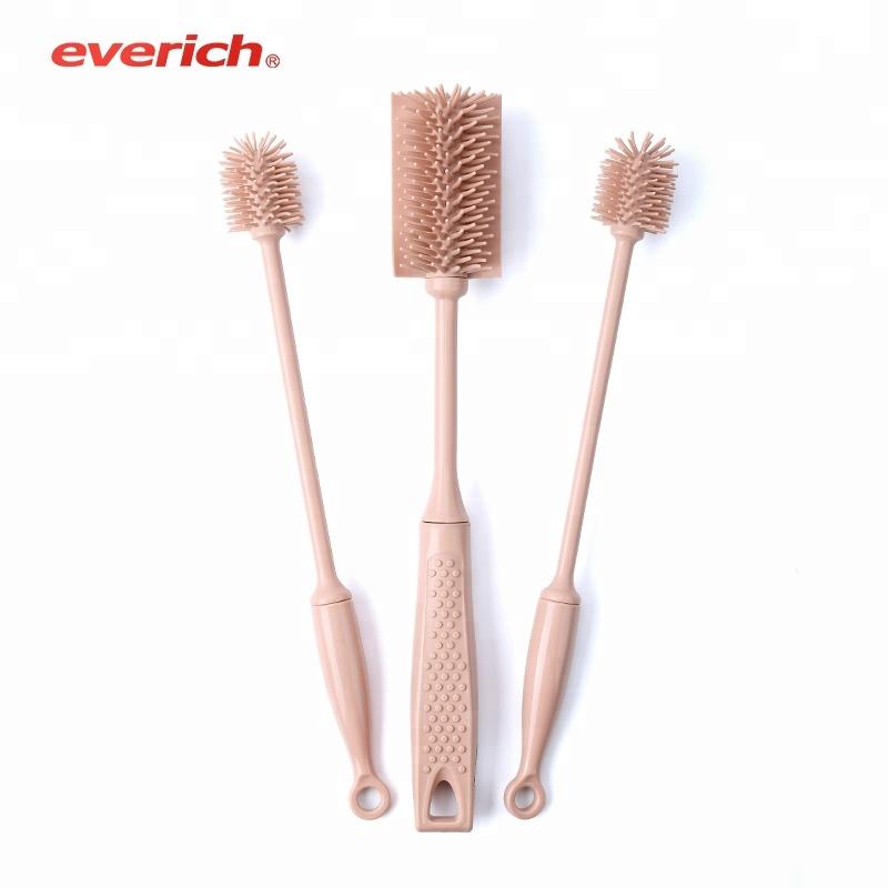 OEM/ODM Diepe roestvrij staal stro borstel set voor stro lange handvat stro reinigingsborstel set fabrikant