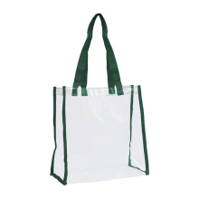Custom Wholesale Black pvc Transparent clear tote bags